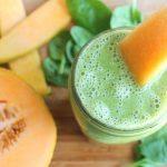 Spenót és sárgadinnye keverékéből készült turmix, amely bővelkedik A-vitaminban.