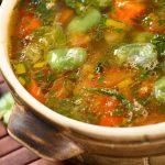 Zamatos turbolyából készült zöldséges leves