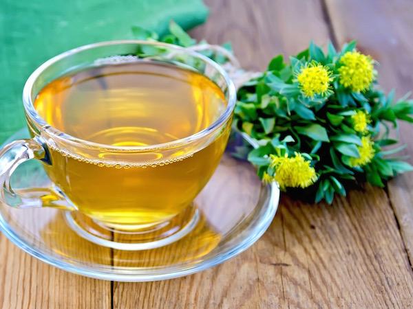 Aranygyökérből (Rhodiola Rosea) készült idegnyugtató tea.