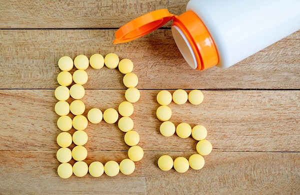 B5-vitamin betűjele magából a vitaminból kirakva.