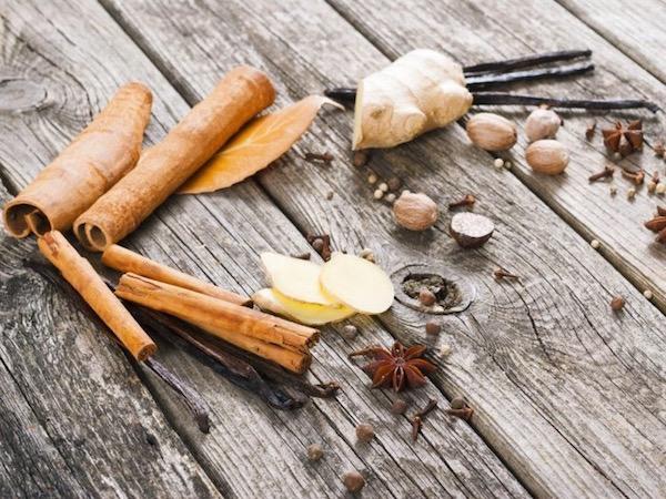 Tél fűszerek: vanília, fahéj, gyömbér, szerecsendió, csillagánizs, szegfűszeg, szegfűbors.