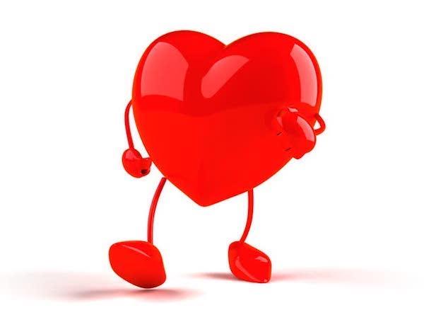 Gyalogló szívet formázó ábra.