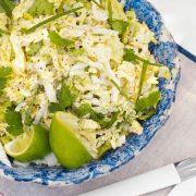Nyári üdítő lime-koriander-káposztasaláta recept