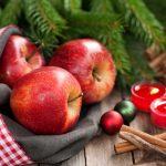 Az alma mint a karácsony egy gyógyító szimbóluma