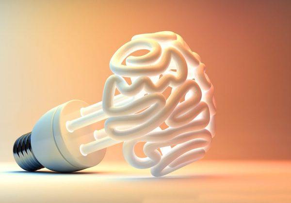 Emberi agy szerkezetére hasonlító izzó.