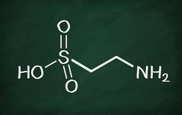 Taurin kémiai képlete.