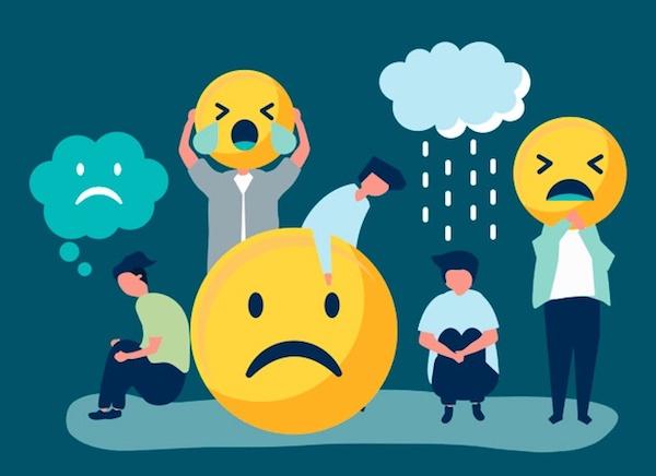 Negatív érzelmek kifejezése emojikkal.