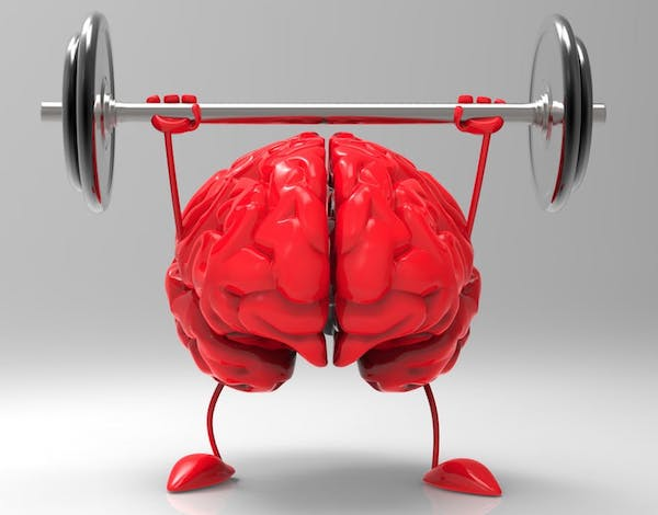 Műanyag piros agy súlyt emel maga fölé.