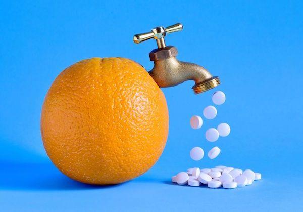 """Narancsból """"folyik ki"""" egy csapon keresztül sok-sok C-vitamin."""